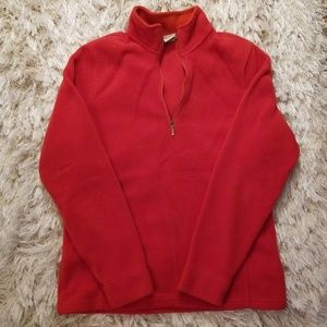 LL Bean fleece half-zip